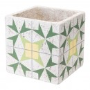 Cement Arrow Planter Green & Yellow