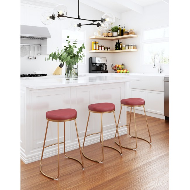 Bree Counter Stool Burgundy