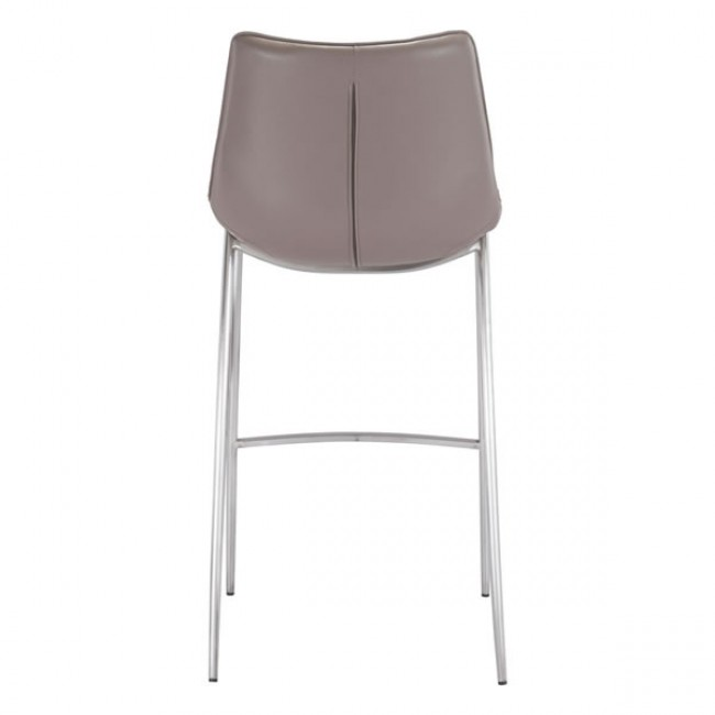 Magnus Bar Chair Gray & Silver