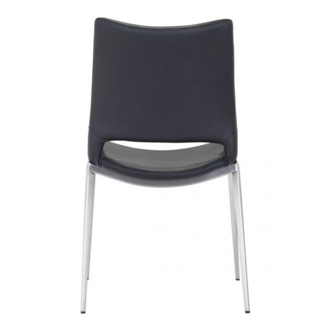 Ace Dining Chair Black & Brushed Ss