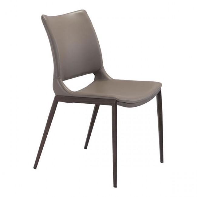 Ace Dining Chair Gray & Walnut