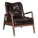 Bully Arm Chair And Ottoman Brown