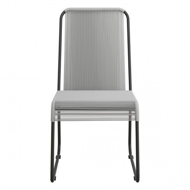 Drew Dining Chair Black & Dark Gray