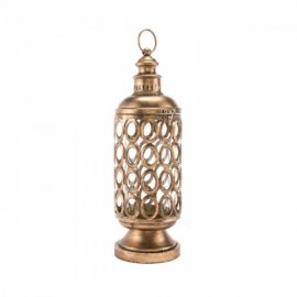 Circles Lantern Sm Antique Gold