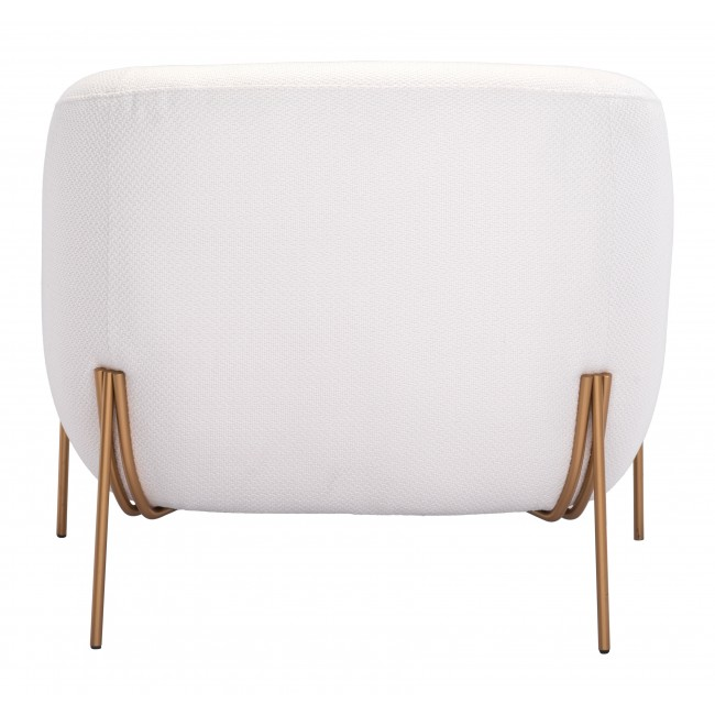 Micaela Arm Chair Ivory & Gold