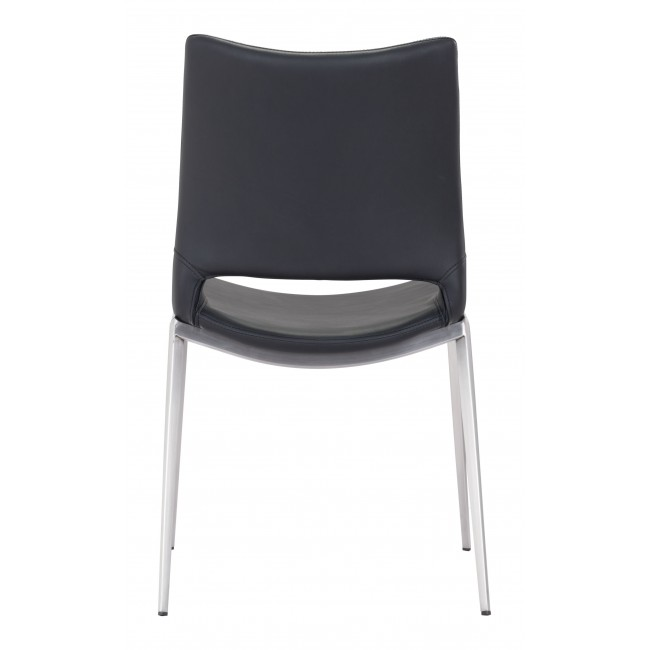 Ace Dining Chair Black & Silver