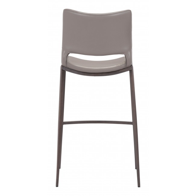 Ace Bar Chair Gray & Walnut