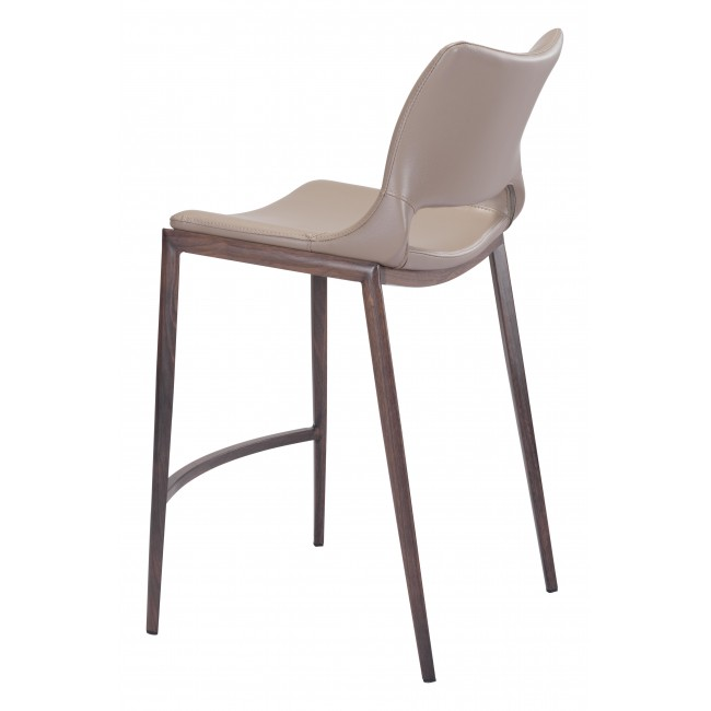 Ace Counter Chair Gray & Walnut
