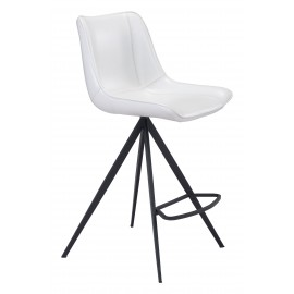 Aki Counter Chair White & Black