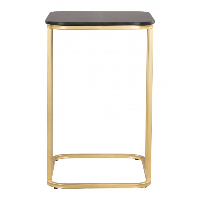 Alma C-Side Marble Table Black & Gold