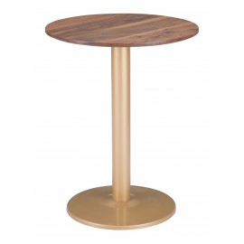 Alto Bistro Table Brown & Gold